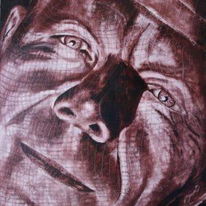 Perplexed - Self-portrait - Oil on Board - 42 x 59cm
